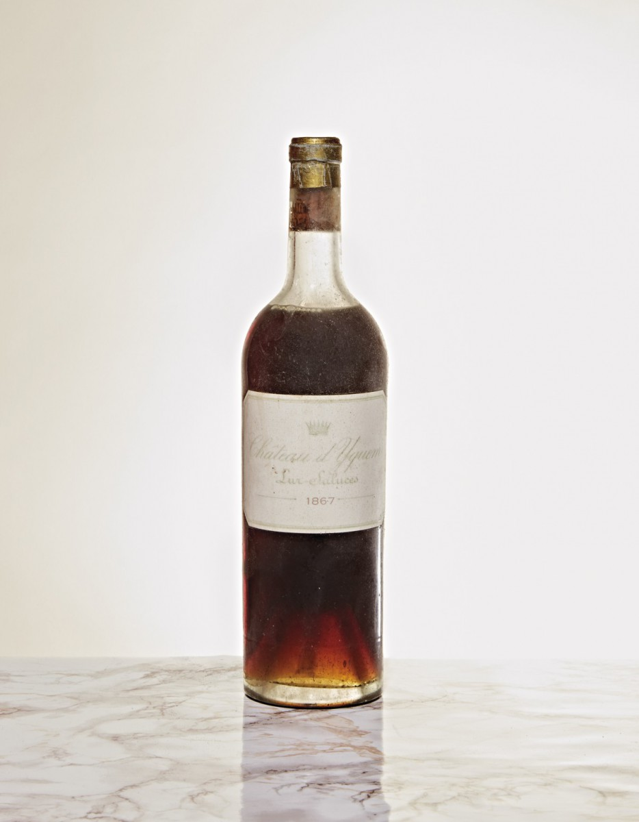 Lot 549: 1 bottle of Château d'Yquem, 1867. © Baghera Wines