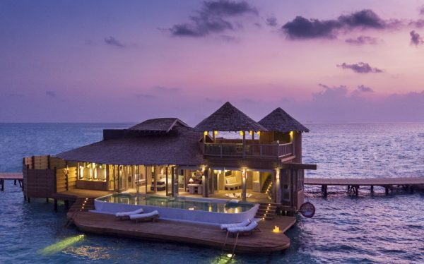 1 Bedroom Overwater Villa_Exterior_Night View by Richard Waite