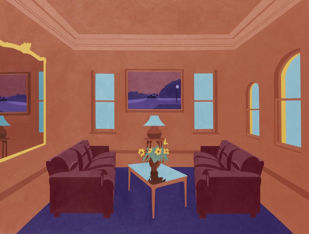 Joanna Lamb, 'Interior 3a', 2011, acrylic on canvas, 106 x 140cm