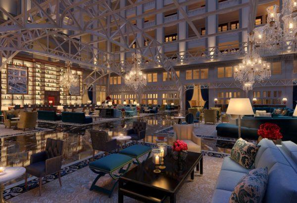 The lobby of the Trump International Hotel, Washington DC