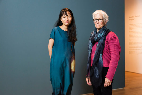 Joan Jonas, mentor in visual arts, with her protege Thao-Nguyen Phan.