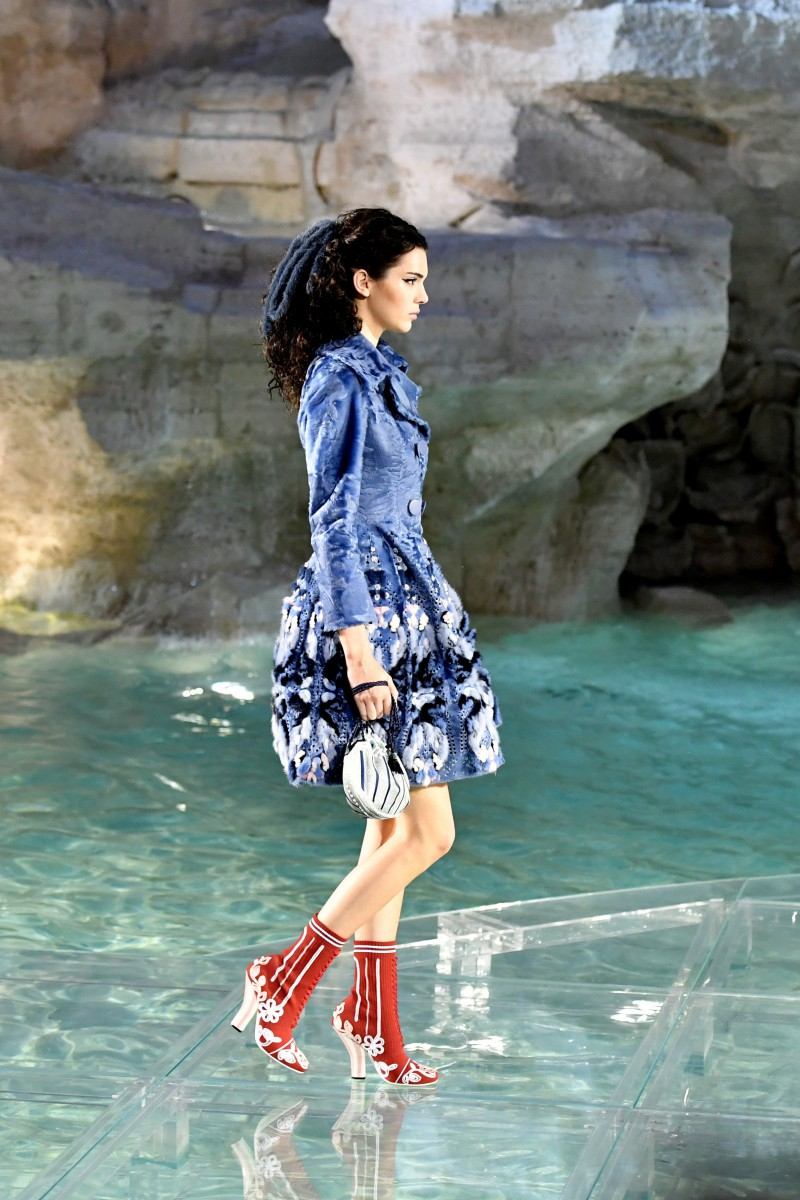 Fendi Trevi Fountain Show Close Up