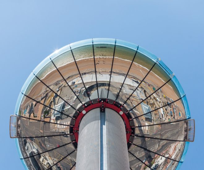 British Airways i360 close