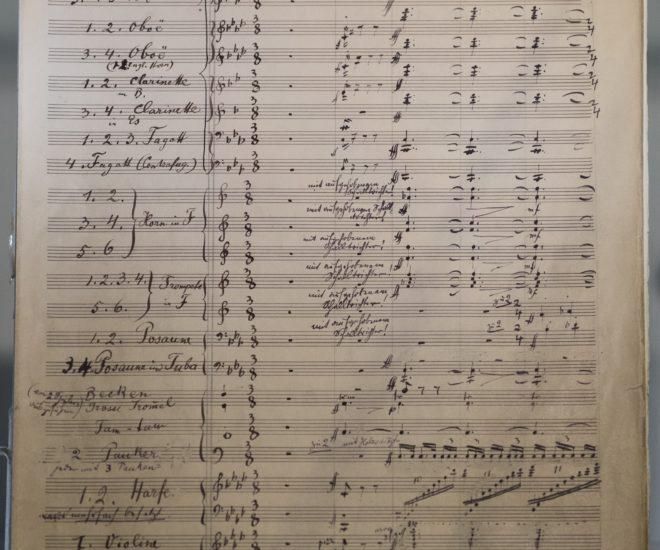 Rare Mahler Score Exhibited in Hong Kong