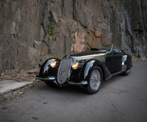 A 1939 Alfa Romeo 8C 2900B Lungo Spider by Touring © Darin Schnabel Courtesy of RM Sotheby's