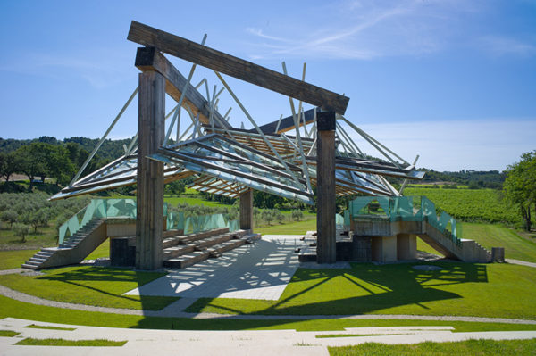 The Franck O. Gehry music pavilion at Château La Coste