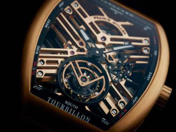 Franck Muller Vanguard Tourbillon Skeleton closeup