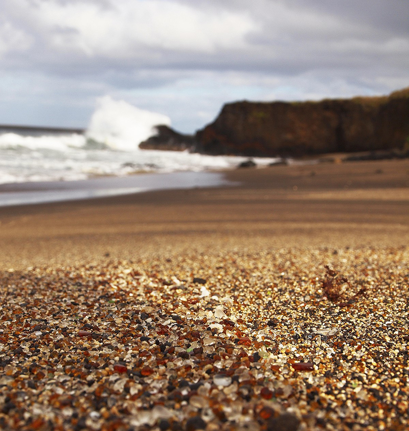 Kauai Glass Beach, Hawaii