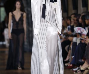 Bouchra Jarrar pulled off an impeccable debut Lanvin show at Paris fashion week despite the storm clouds still swirling around the troubled French label.