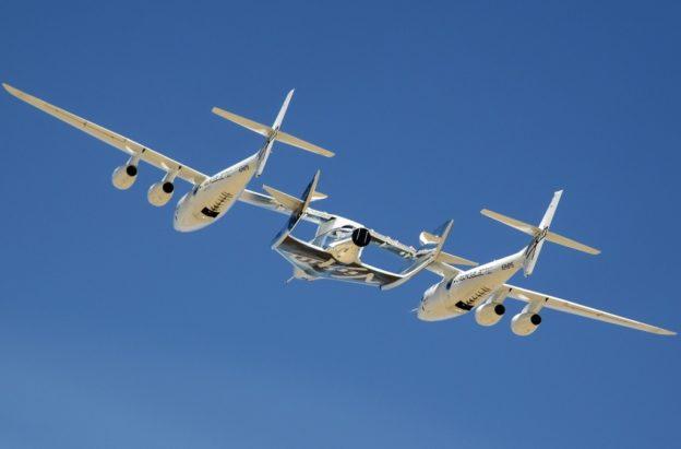 VSS Unity completes its first flight test