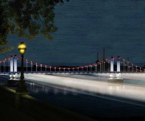 Illuminated river art project london