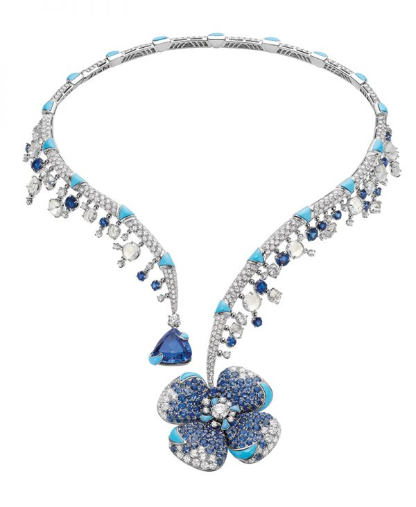 Bulgari Magnificent Inspirations Fiore ingenuo High Jewellery necklace in white gold 