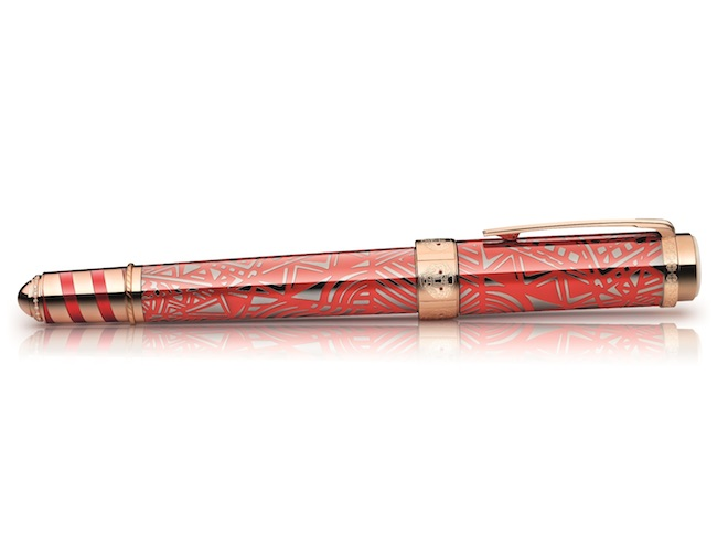 Montblanc unveils the limited edition pen commissioned to honour Peggy Guggenheim, niece of founder of the Guggenheim Museum, Solomon R. Guggenheim.