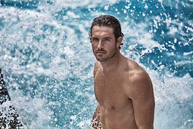 Model Justin Joslin for Bulgari's AQVA POUR HOMME ATLANTIQUE.