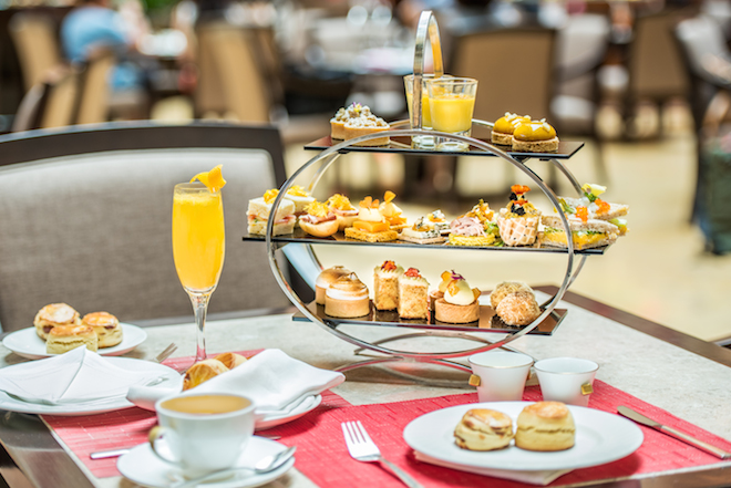 International Women's Day Afternoon Tea at the Courtyard, The Fullerton Hotel Singapore.