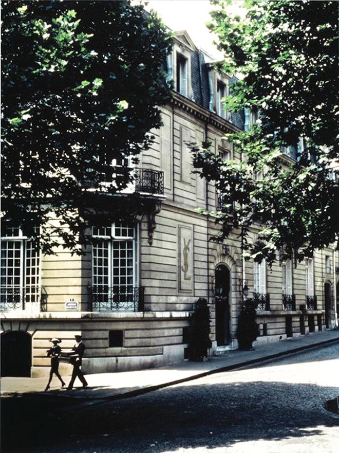 The Yves Saint Laurent museum in Paris.