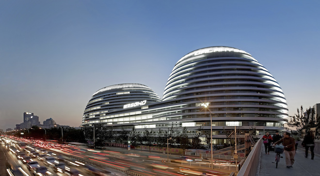 Galaxy SOHO, Beijing, Completed in 2012, Zaha Hadid Architects. Photography by Hufton+Crow Photographers