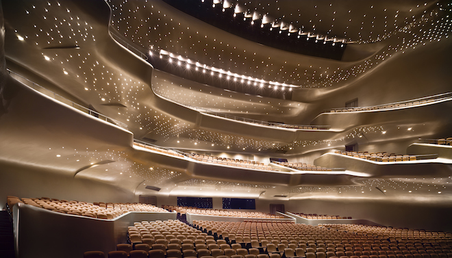 The Guangzhou Opera House, Completed in 2010, Zaha Hadid Architects. Photography by Virgile Simon Bertrand