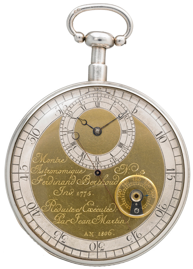 A pocket watch originally made by Ferdinand Berthoud.