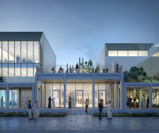 Rendering of the entrance to Jameel Arts Centre Dubai | © Serie