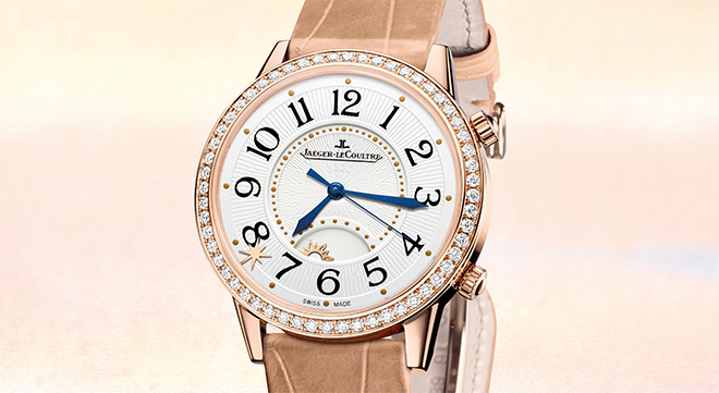 The Jaeger-LeCoultre Rendez-Vous Sonatina Large in pink gold