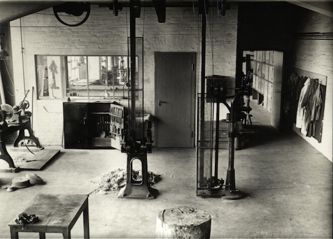 Metal workshop at Bauhaus Dessau. Image courtesy of private collection of Leipzig