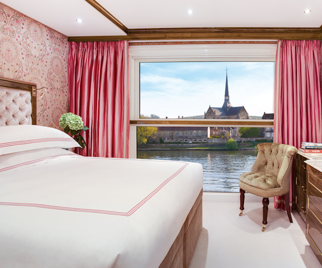 Stateroom Four onboard SS Joie de Vivre. Image courtesy of Uniworld