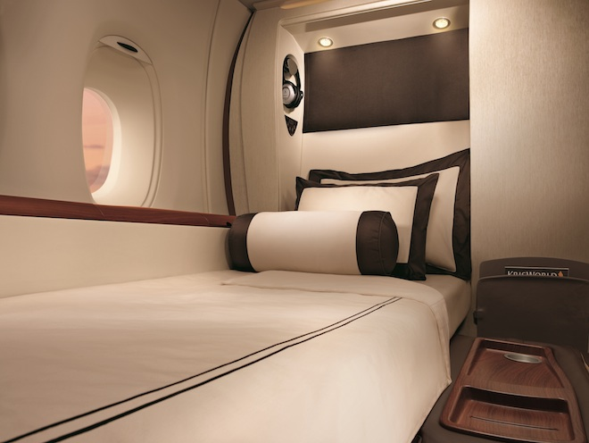 The A380-exclusive Singapore Airlines Suite. Image courtesy of Singapore Airlines
