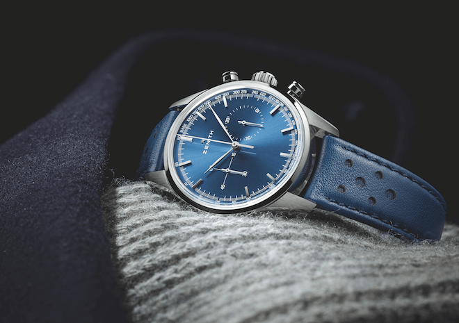 Zenith Heritage 146 with El Primero and blue dial