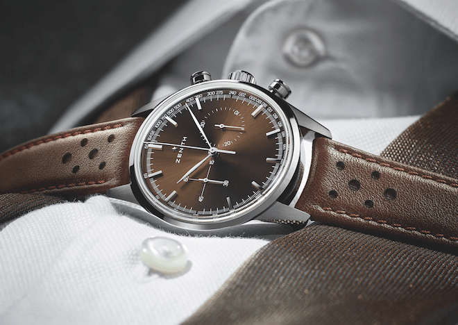 Zenith Heritage 146 with El Primero and brown dial