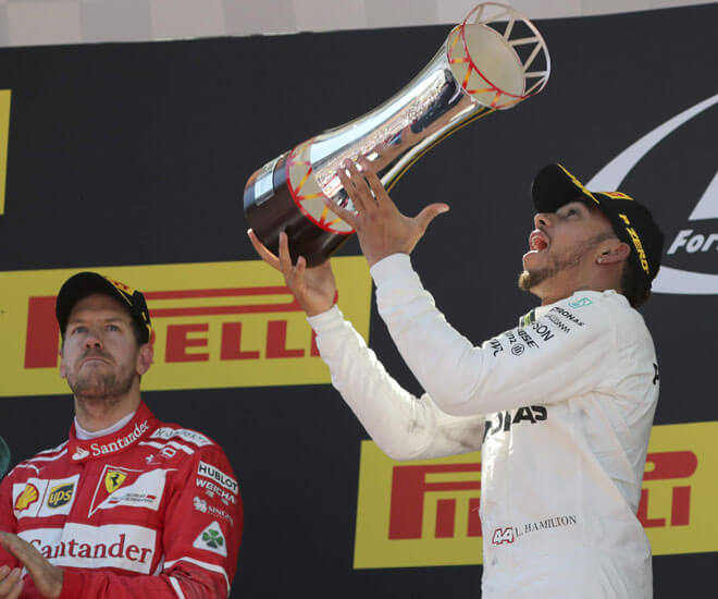 Spanish Grand Prix 2017 Lewis Hamilton Wins F1 Trophy For Mercedes In Barcelona