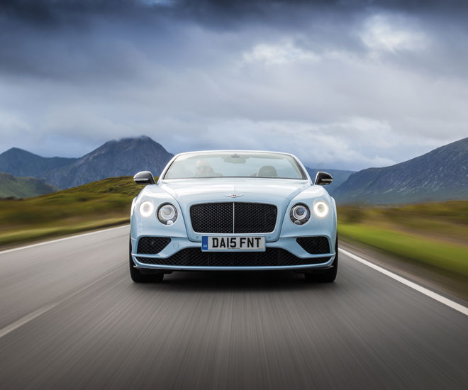 Luxury car test drives in London: Bentley Continental GT V8 S convertible