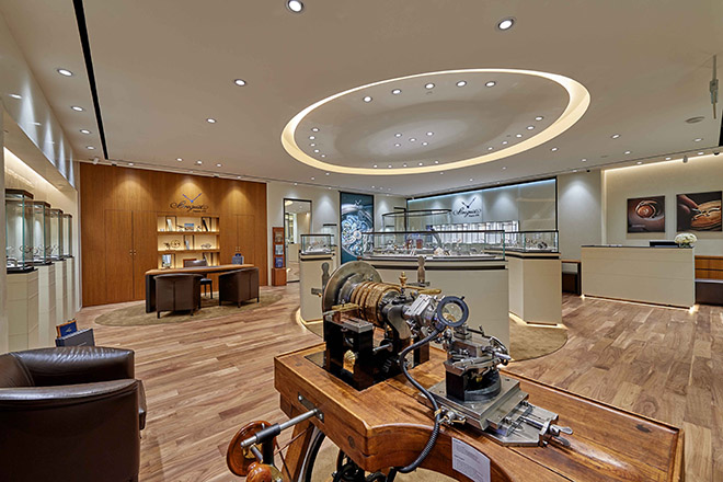 Breguet also took the opportunity to showcase its artistic craftsmanship with a demonstration at the antique guillochage machine from 1905, which will remain a mainstay in the new boutique.