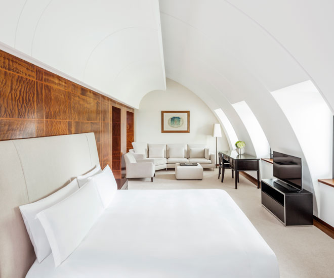 Interior of a 5th floor suite at COMO, the Halkin, Belgravia, London