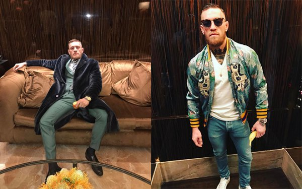Conor McGregor is the most stylish MMA fighter ever by how easily he goes from a David Auguste bespoke suit to street style.