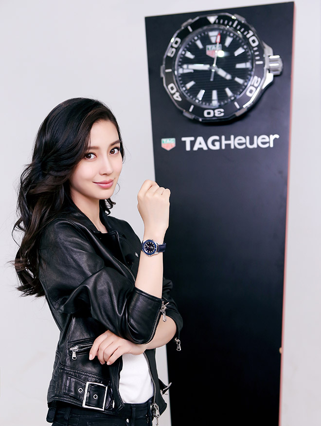 Angelababy epitomises the sort of #DontCrackUnderPressure attitude required as TAG Heuer's newest brand ambassador