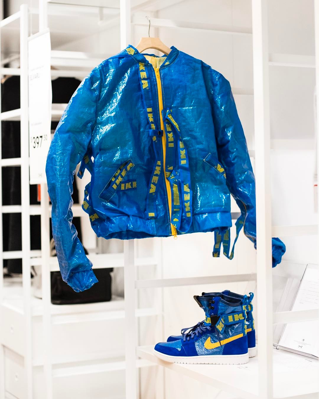 Is Shoe Surgeon Dominic Chambrone poking fun at Balenciaga with his IKEA pack bespoke Nike Jordans?