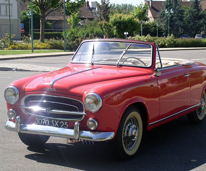 Classic Car: 1959 Peugeot 403 Convertible For Sale With