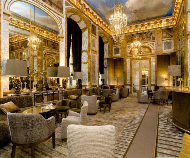 iconic hotels in paris revamped h tel de crillon opens at. Black Bedroom Furniture Sets. Home Design Ideas