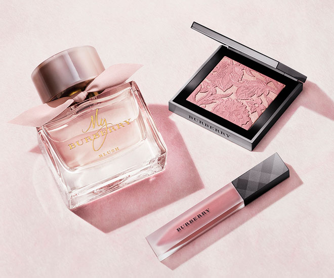 65095d8a02 New luxury perfume: British actress Lily James fronts 'My Burberry ...