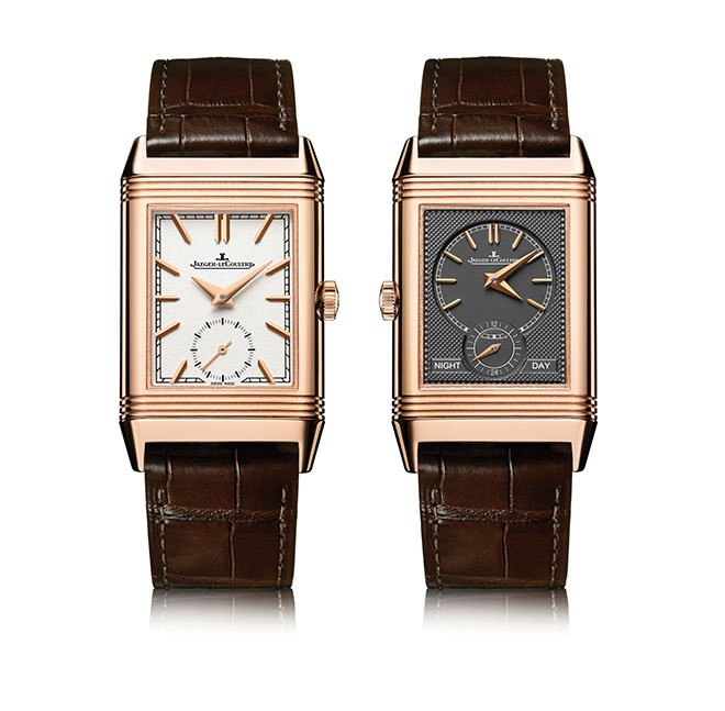 The 2017 Jaeger-LeCoultre Reverso Tribute Duo owns the form space in classical styling