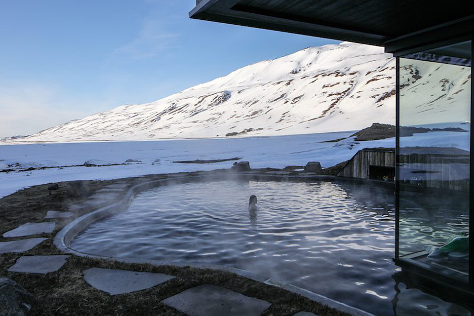 Dare you try the external hot spa of the Deplar Farm in the icy north of Iceland?
