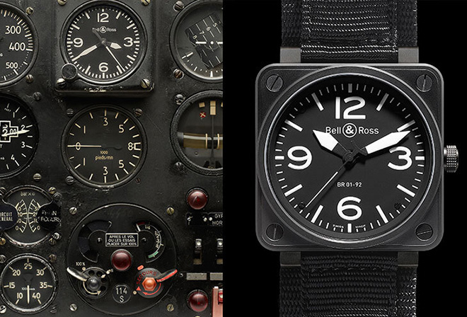 Early 20th century cockpit instruments inspired Bell & Ross's most popular model, the BR 01. It's dialside design codes would eventually trickle down to the Bell & Ross Vintage collection