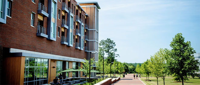 Wolf Ridge Apartments at NC State University combine modern architectural innovations, Silver LEED certified green living options and unparalleled convenience for upper-class and graduate students on Centennial Campus.