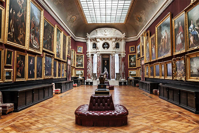 The art gallery within Château de Chantilly is among France's largest exhibits