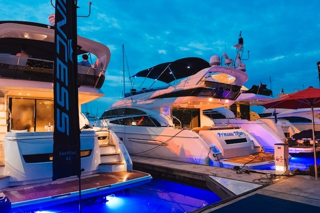 Princess Yachts display during Singapore RendezVous 2016