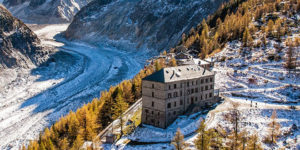 Best Way to Spend Your Holiday: Terminal Neige Refuge du Montenvers Hotel overlooking La Mer de Glace