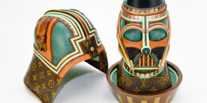 Luxe Jedi: George Dishaw's latest upcycled Star Wars Sculptures use vintage Louis Vuitton bags