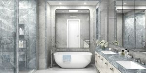 Smartly Designed Bathrooms for a Luxury Penthouse on Fifth Avenue