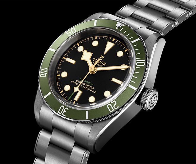 tudor black bay in green a harrods special edition luxuo
